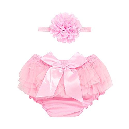 Kostüm Sträfling Rosa Baby - YWLINK Baby MäDchen Karneval Tutu Rock+Stirnband Set Spitze Bowknot Chiffon Slips Diaper Cover (Rosa,S)