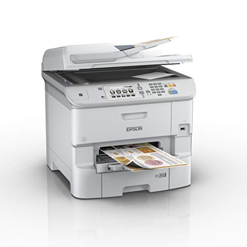Epson WorkForce Pro WF-6590DWF (220V) Multifunktionsgerät (Drucker, scanner, kopieren, Fax, 4800 x 1200 dpi, WiFi und USB) weiß (Drucker Weiße Tinte)