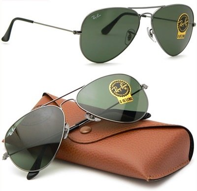 rayban-3025-large-aviator-silver-metal-w0879-sunspecs-with-classic-green-g-15-lens