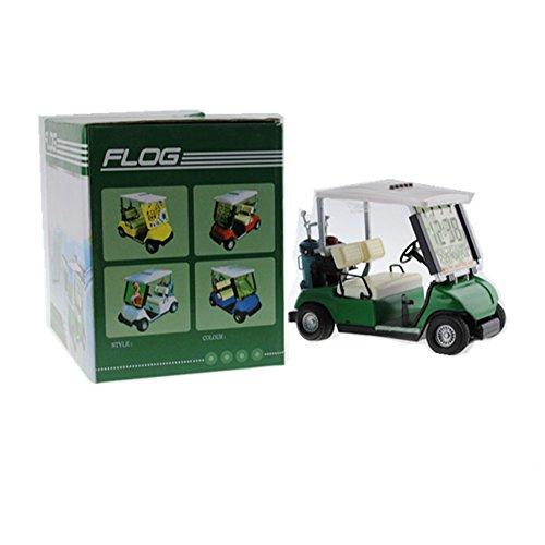 crestgolf Mini Golf Cart Uhr mit LCD, Miniatur Golf Buggy, (grün) 1Stück -