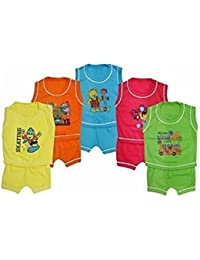 FEEL TRENDY Baby Boy's And Girl's Cotton Dress (3-6 Months) - Pack of 5