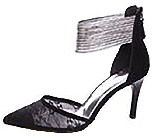 Laruise , Sandales Compensées femme Schwarz