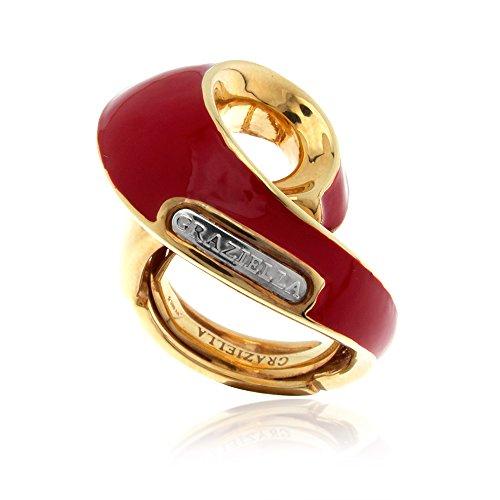 gioiello-italiano-anillo-graziella-en-oro-amarillo-y-blanco-14kt-con-esmalte-rojo