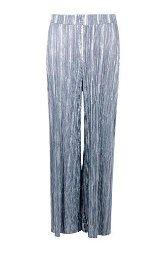 gris Femme Tall Luana Jupe-culotte Plissée Métallique Gris