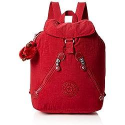 Kipling - Fundamental, Mochilas Mujer, Rojo (Radiant Red C), 16.5x42x42 cm (B x H T)