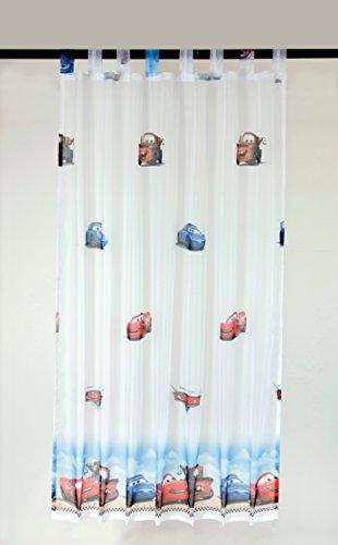 Brandsseller, disney winnie the pooh e cars, tenda decorativa, tenda con passanti per la cameretta dei bambini, 145x 245cm, motivo: cars o winnie the pooh, auto, 145 x 245 cm