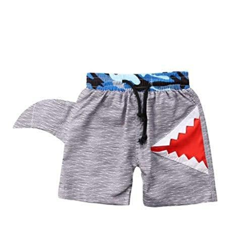 Allence Junge Hosen Shorts, Boy Shark Mouth Print Kordelzug Strandhose, Kinder Baby Boy Shark Schwimmen Board Shorts Sommer Beachwear Shorts, 6 Monate - 7 Jahre alt