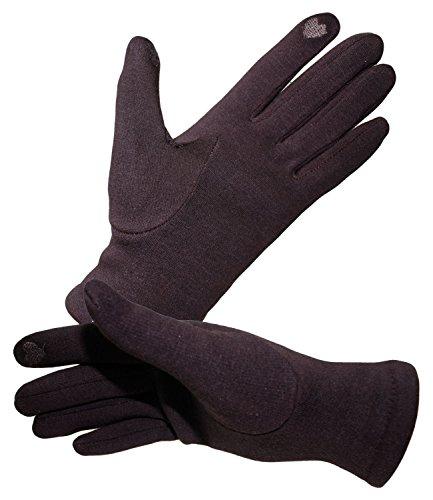 Fiebig Damenhandschuhe Handschuhe Fingerhandschuhe Fleecehandschuhe Winterhandschuhe einfarbig Touchscreen für Frauen...