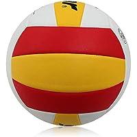 CN Voleibol de Voleibol de Entrenamiento Hinchable General de Interior y Exterior de Voleibol de la PU,Rojo Blanco,5
