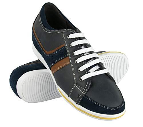 Zerimar Zapatos con Alzas Hombre| Zapatos Deportivos con Alzas Que Aumenta su Altura + 6 cm| Zapatillas Hombre de Vestir| Zapatos Hombre Casuales