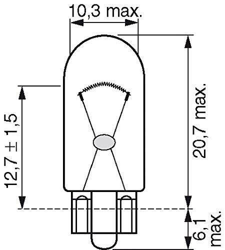 Bosch 1987301026 Autolampe W5W PURE LIGHT – Glassockellampe/Miniwattlampe