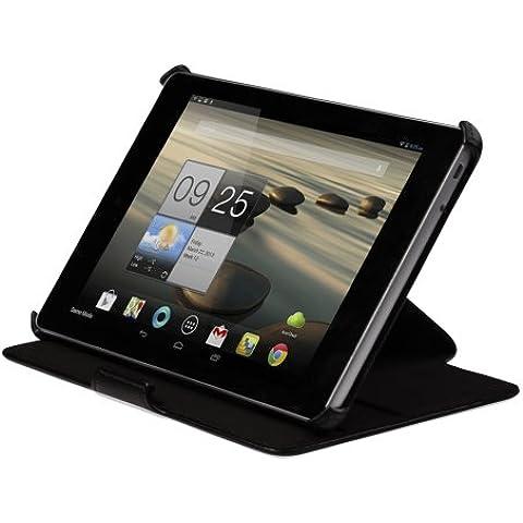 Superior Seguro Cierre Ultra Delgado Cuero Funda de Piel Con Soporte Para Acer Iconia A1-830 Tablet
