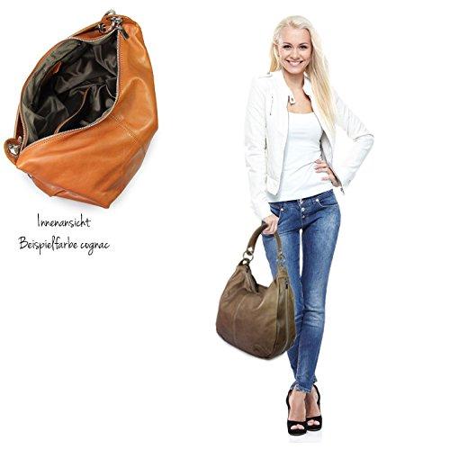 IO.IO.MIO Borsetta per le Icone® - Borsa shopper Donna Marrone (Marrone)