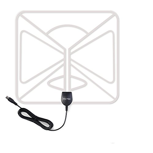 Antena de TV, Pictek Sutil Antena interior HDTV - 80KM...