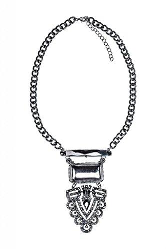 Edelstein Mit Samt Schwarzer Choker Perlen (Lux Accessories - Halskette mit Strassbesetztem)