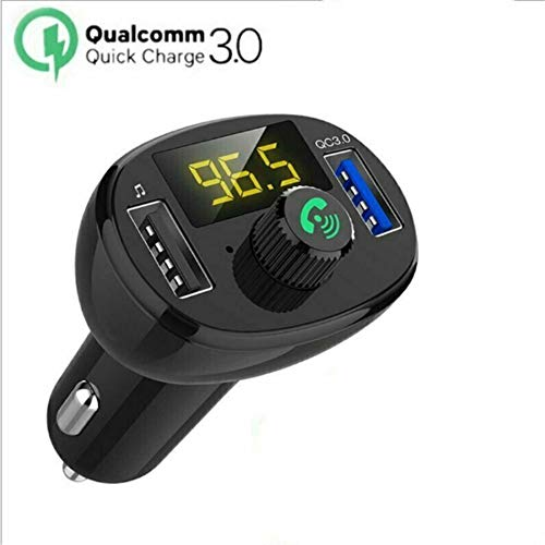 Lebron ray QC3.0 FM Transmitter Dual USB Ladeunterstützung 2.1A Schnellladung 3.5 Mm AUX Eingang TF Kartenlesung Und Power-Off Memory Funktion Dual-consumer Electronics