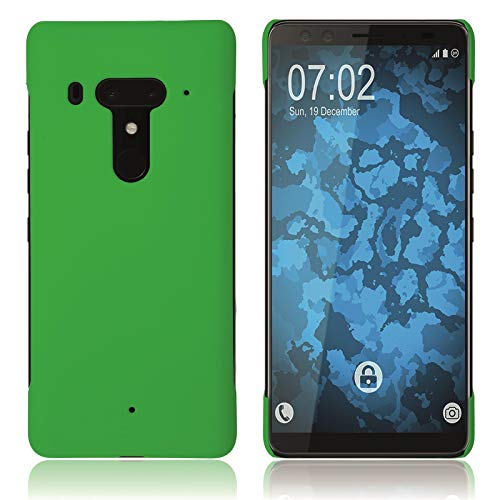 PhoneNatic Case kompatibel mit HTC Exodus 1 - Hülle grün gummiert Hard-case Cover
