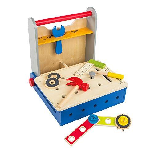 ColorBaby Play&Learn Caja herramientas de madera plegable Multicolor (46216)