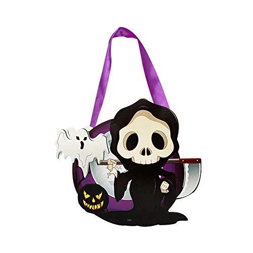 (Namgiy Halloween-Kürbisbeutel für Süßigkeiten oder Süßigkeiten, Süßigkeiten, Halloween, Party-Dekoration, mit DIY Cartoon-Form-Papier)
