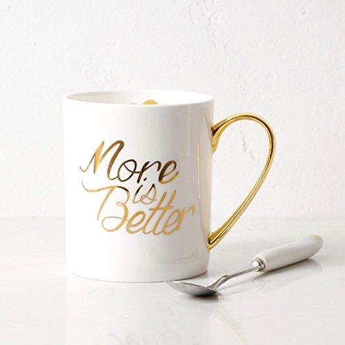 SSBY La Tasse De Café Créatives Simples À Bord De Céramique Ou Deux Tasse Tasse En Porcelaine Blanche En OrB