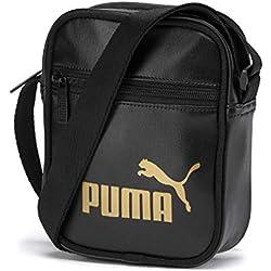 PUMA WMN Core Up Portable Bandolera, Mujeres, Black-Gold, OSFA