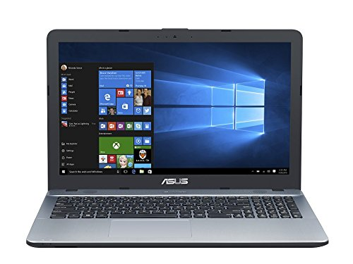 Asus F541NA-GQ386T 39,62 cm (15,6 Zoll matt) Notebook (Intel Celeron N3350, 8GB RAM, 1TB HDD, Intel HD Graphics, DVD-Laufwerk, Win 10 Home) silber