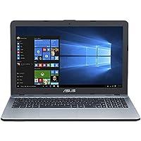 Asus F541NA-GQ386T 39,62 cm (15,6 Zoll matt) Notebook (Intel Celeron N3350, 8GB RAM, 1TB HDD, Intel HD Graphics, DVD-Laufwerk, Win 10 Home) silber