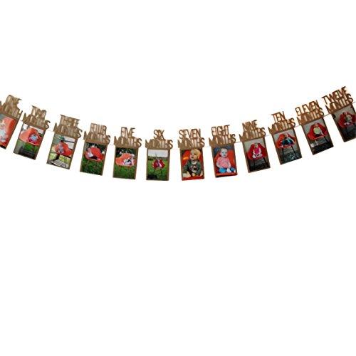 Kindergeburtstag Dekorationen,Moonuy Geschenk 1-12 Monat Foto Banner Monatliche Foto Wand Wallpaper-banner