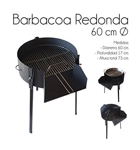 ESTUFAS GARCIA Barbacoa Redonda 60 CM Chapa con Soporte para Paella
