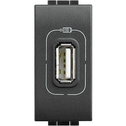 Bticino L4285C1 Livinglight Caricatore USB con Tensione 5...