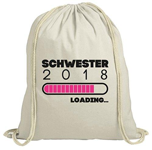 Geschenkidee Geburtstag Geburt natur Turnbeutel Gym Bag Schwester 2018 Loading... Natur