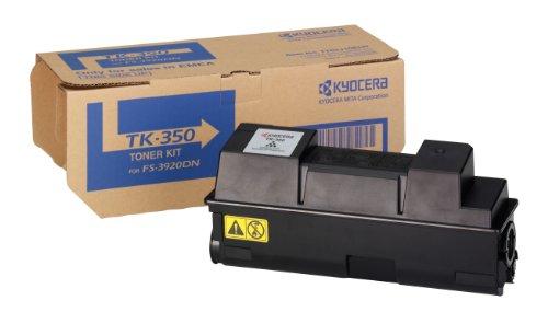 Kyocera Mita TK-350 Toner nero, cartuccia originale 1T02LX0NLC. Per stampanti FS-3920DN, FS-3040MFP, FS-3140MFP, FS-3040MFP+, FS-3140MFP+, FS-3540MFP, FS-3640MFP