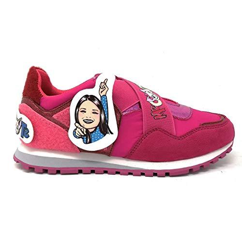 Liu-Jo Me Contro Te Sneakers Elastico Bimba/Ragazza in Tessuto Glitter E VECLRO + Adesivi 4XX801TX08300021 (34 EU)