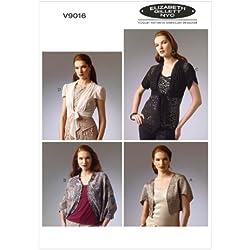 Vogue Patterns V9016 ZZ - Patrones de costura para chaquetas y chaquetillas (tallas L, XL y XXL), multicolor