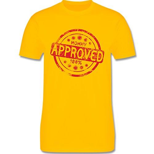 Eltern - Mommy approved - L190 Herren Premium Rundhals T-Shirt Gelb