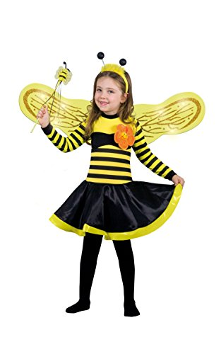 Ciao - ape lucine del bosco costume bambina con ali luminose, 4-6 anni