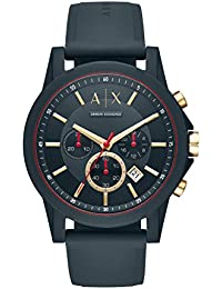 21118912d18b Armani Exchange Reloj Analogico para Hombre de Cuarzo con Correa en  Silicona AX1335