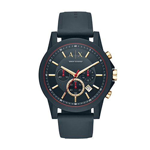 £114.44 Best Seller Armani Exchange Men's Analogue Quartz Watch with Silicone Strap AX1335
