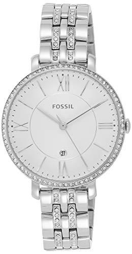 Fossil Damen Analog Quarz Uhr mit Edelstahl Armband ES3545