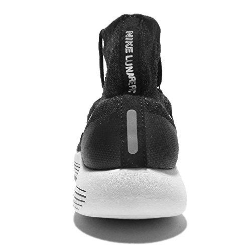 Nike Wmns Lunarepic Flyknit, Chaussures de Running Entrainement Femme Blanc Cassé - Blanco (Black / White-Anthracite-Volt)