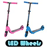 Best Scooters - iScoot X10 Neon Blue Light Weight Kick Scooter Review