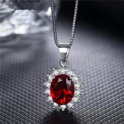925 Sterling Silber Rubin König, Ohrringe weiblich Roségold Ohrringe roter Diamant Ohr Ohr Schmuck Geschenk I