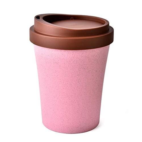 CAI CAI Aufbewahrungseimer Mini Shaking Cover Desktop Mülleimer Kunststoff,Pink
