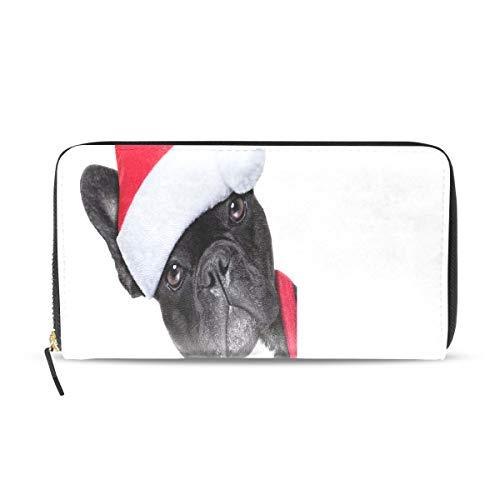 Glücklich Fröhlich Weihnachten Hund Lange Passport Clutch Geldbörsen Reißverschluss Geldbörse Tasche Handtasche Geld Organizer Tasche Kreditkarteninhaber Für Dame Frauen Mädchen Männer Reise Geschenk (Hunde Geld Tasche Kostüm)