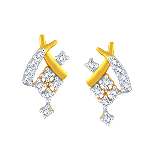 Giantti 14 carats Diamant pour femme Boucles d'oreille à tige (0.266 CT, VS/Si-clarity, Gh-colour)