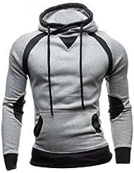Sweatshirt Homme , Amlaiworld Hiver Sweat à capuche Slim Pull à capuche chaud Tops d'usure Manteau à capuchon