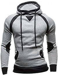 Sweatshirt Homme, Amlaiworld Hiver Sweat à Capuche Slim Pull à Capuche Chaud Tops d'usure Manteau à Capuchon
