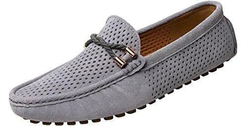 Yaer mocassini da uomo in pelle scamosciata mocassini in pelle da barca e guida slip on scarpe piatte