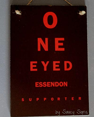 Ced454sy Essendon Bombers One Eyed Supporter Schild Aussie Rules Footy Football Tickets, Trikots Fanartikel