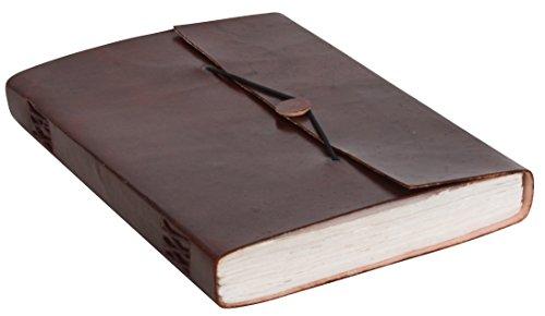 Gusti Leder nature ''Karin'' Notizblock Buch Tagebuch DIN B5 Skizzenbuch aus Rindsleder Handgeschöpftes Papier Lederaccessoire Traditionell Fotobuch Lederbuch Universität Büro Alltag Glatt P34 -